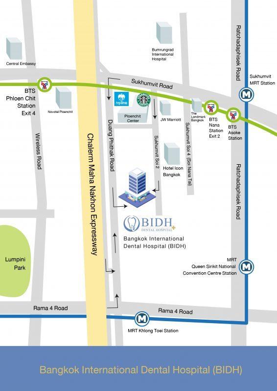 BIDH Dental Hopsital Map